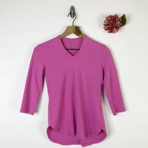 ISAAC MIZRAHI Knit Top 3/4 Sleeve